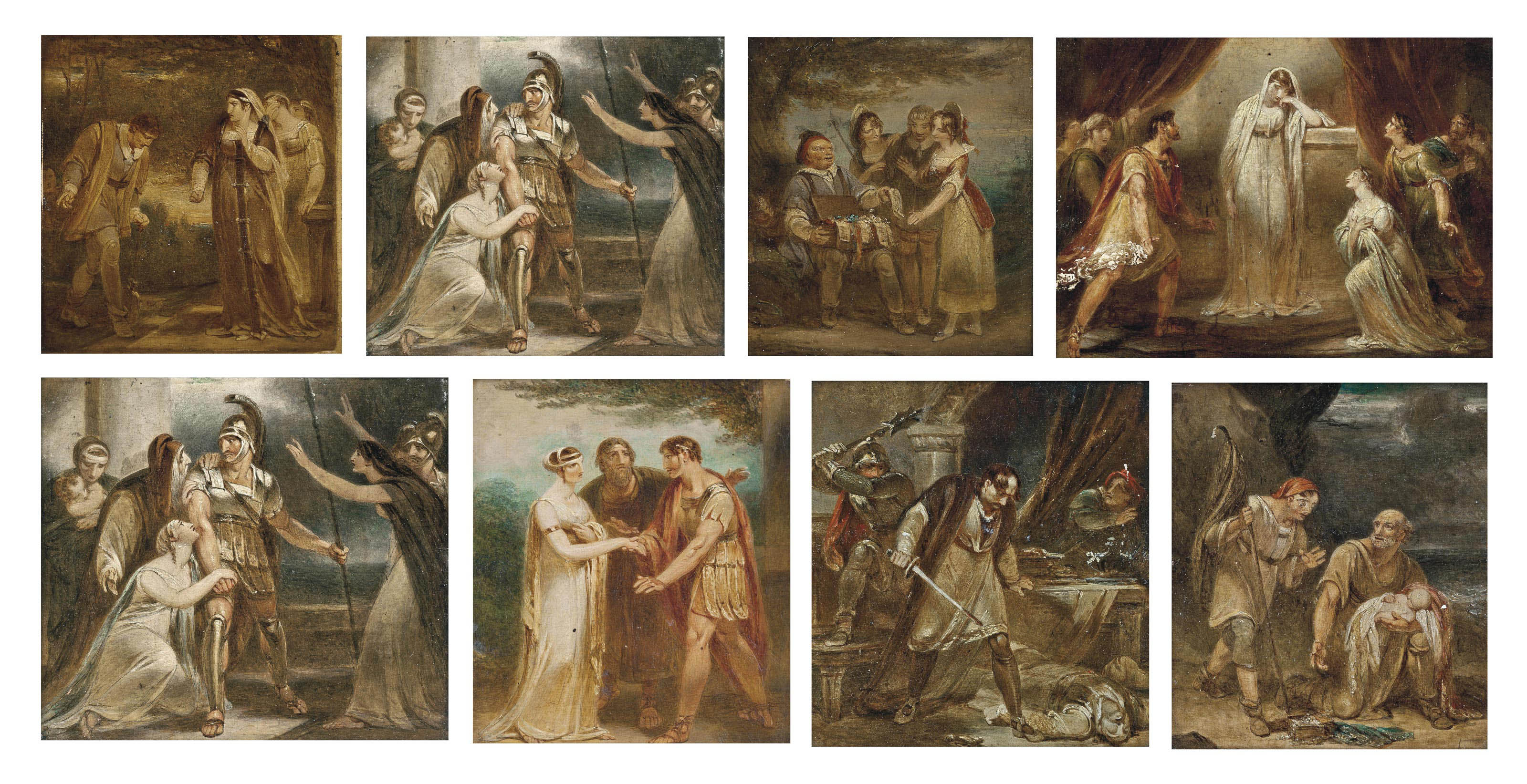 Eight scenes from Shakespeare's Coriolamis and The Winter's Tale