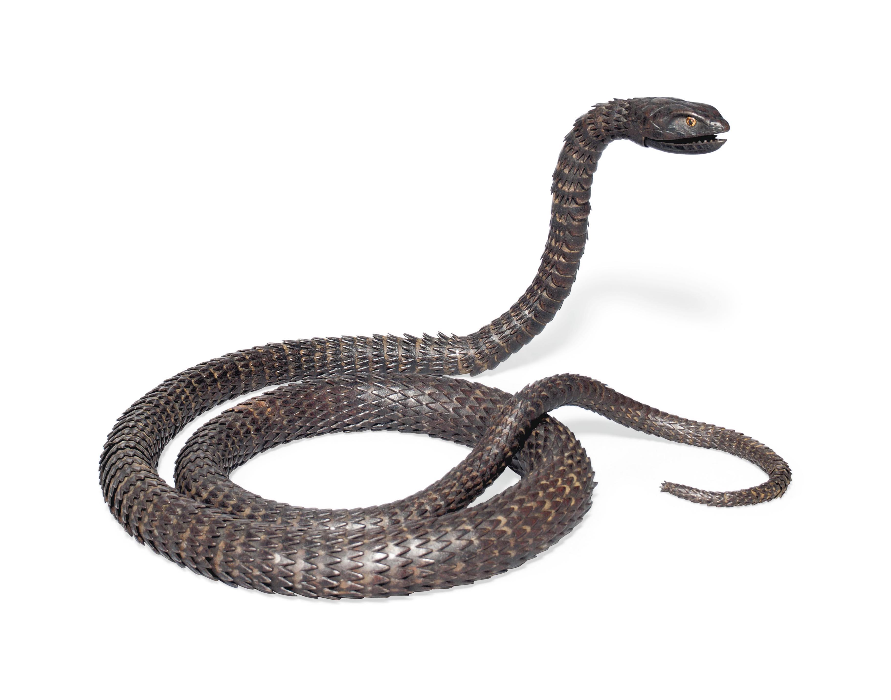 A Myochin-School Iron Articulated Model of a Snake