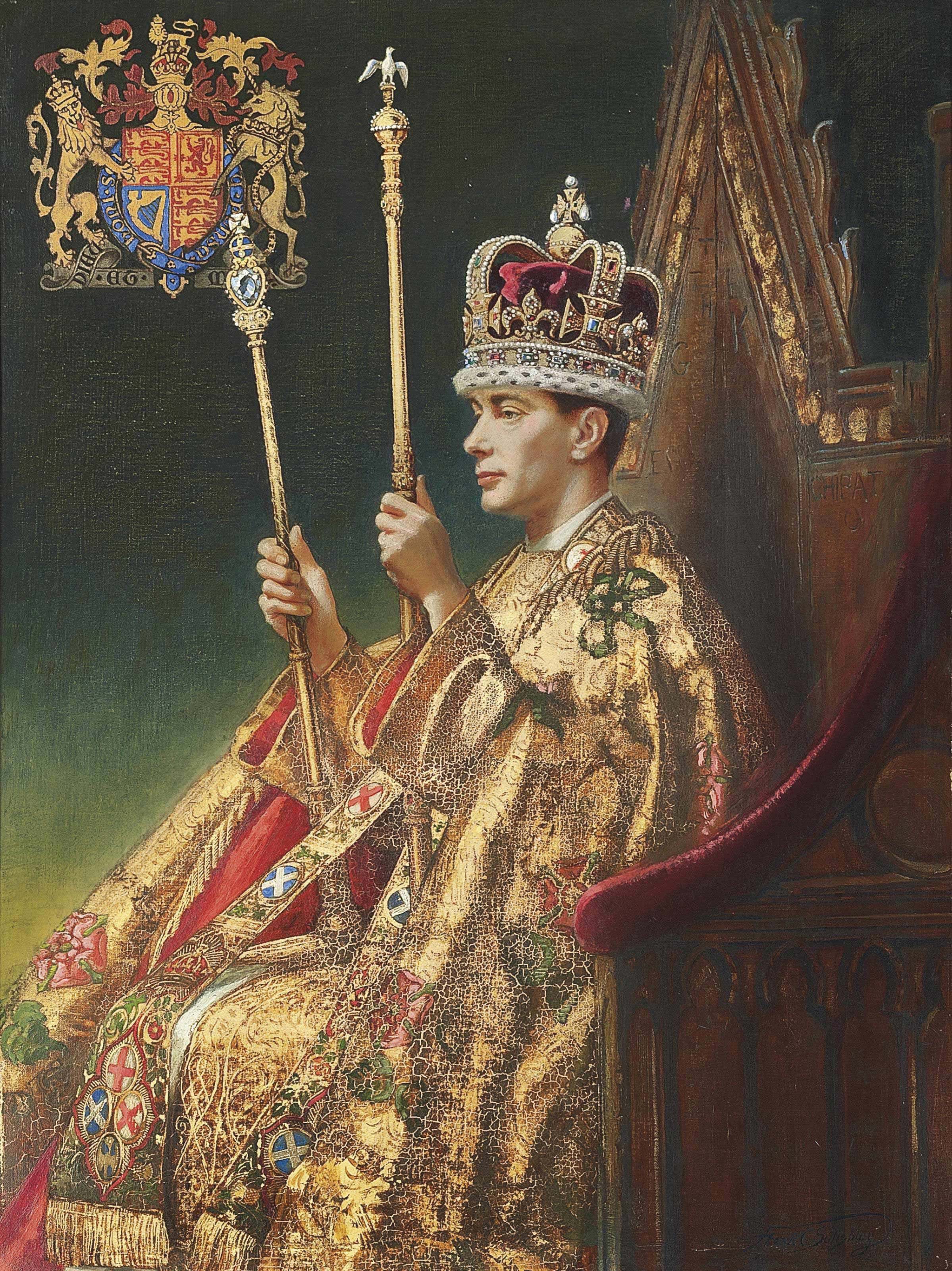 His Majesty King George VI, portrait for the coronation picture