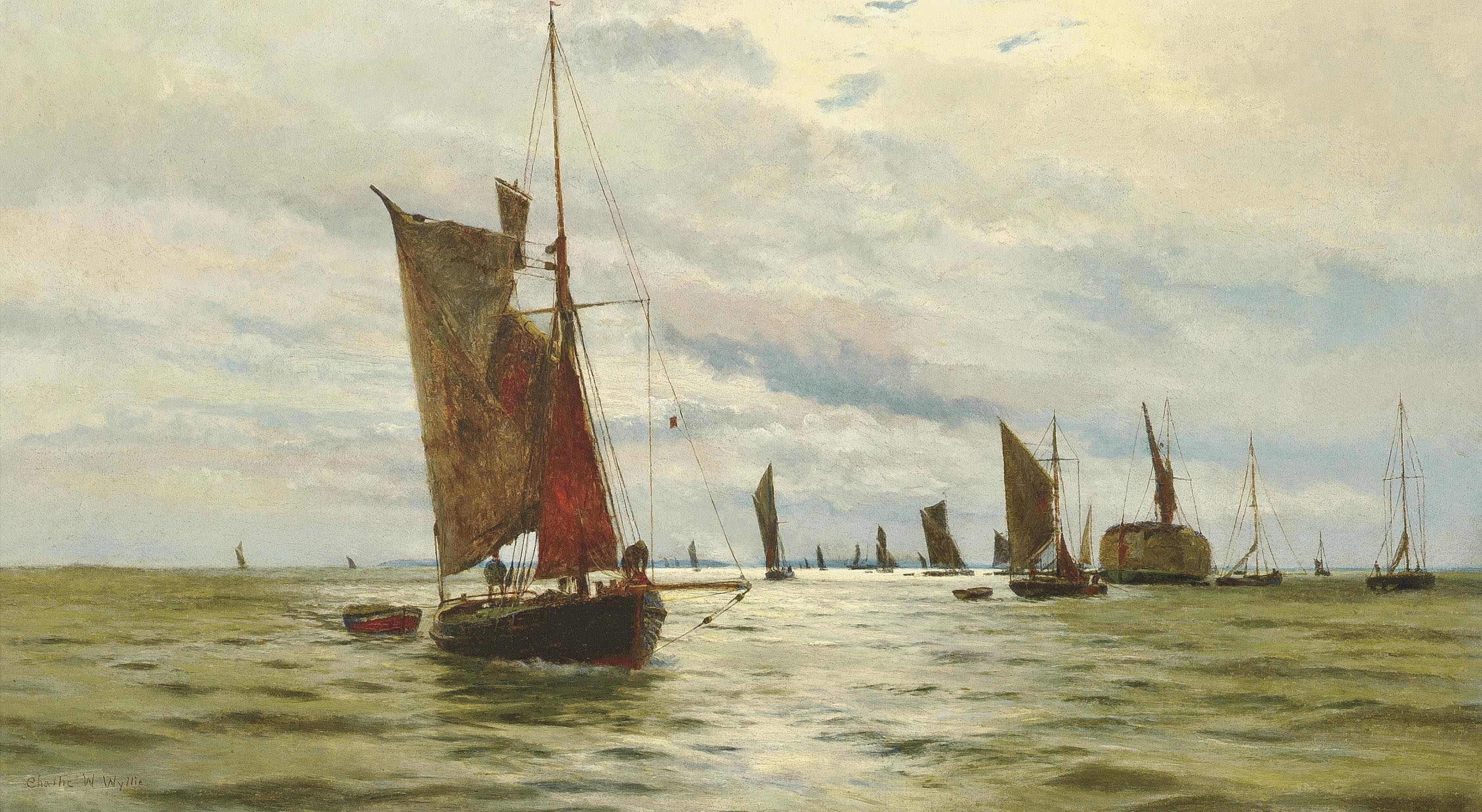 Bustling activity on the Thames