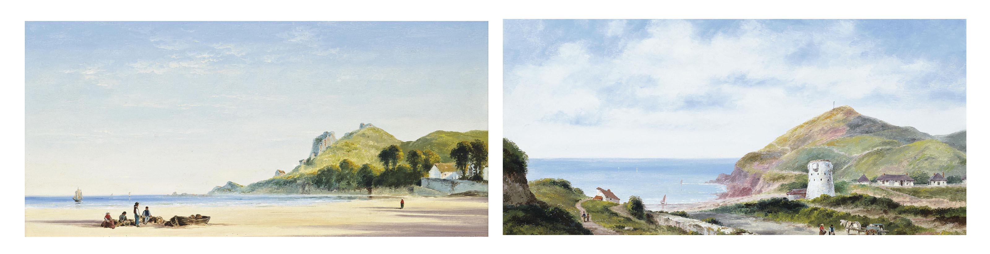 St Brelade's Bay, Jersey, at low tide; and Greve de Lecq, Jersey (both illustrated)