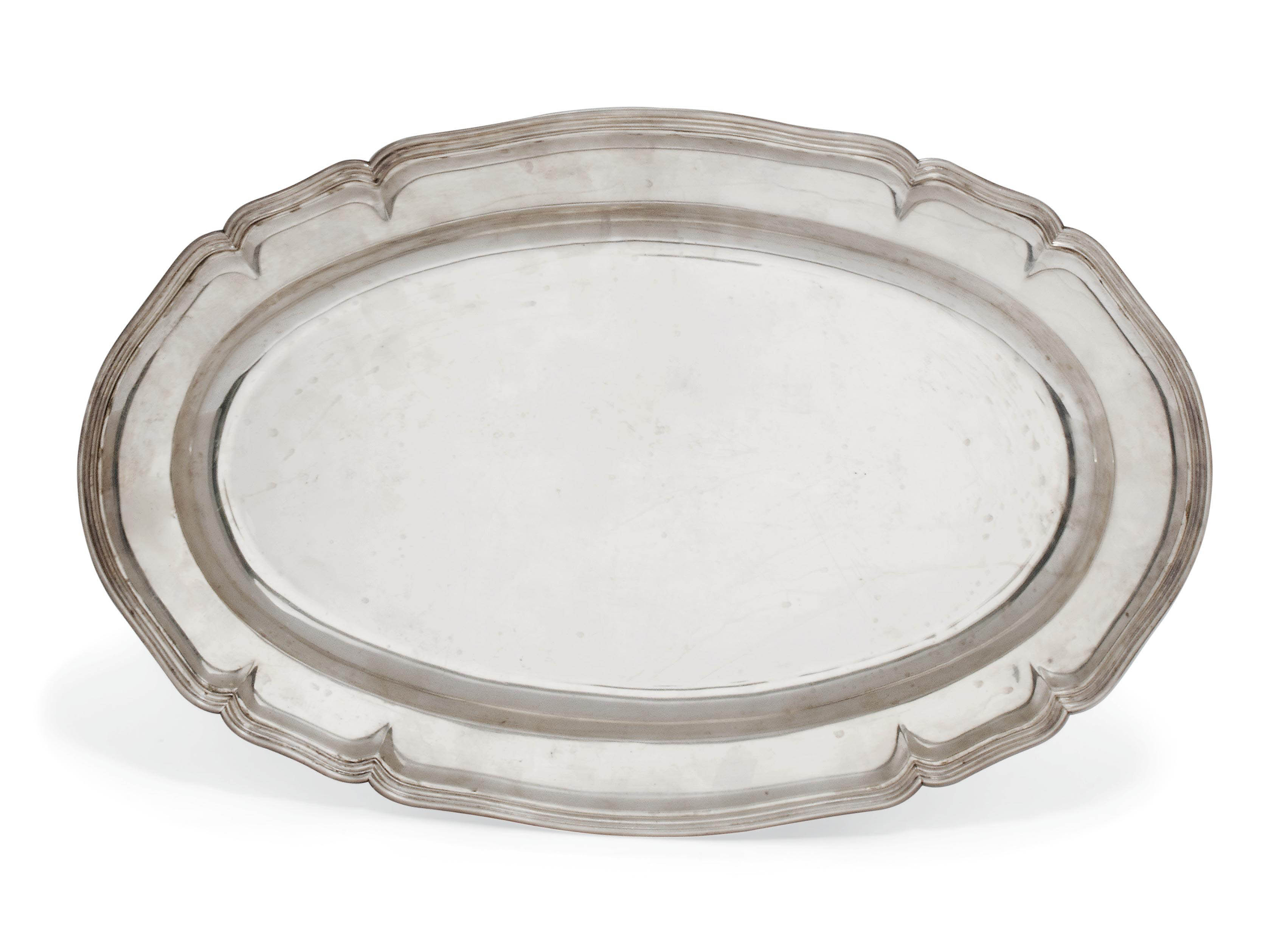 A RUSSIAN SILVER SHAPED OVAL MEAT DISH