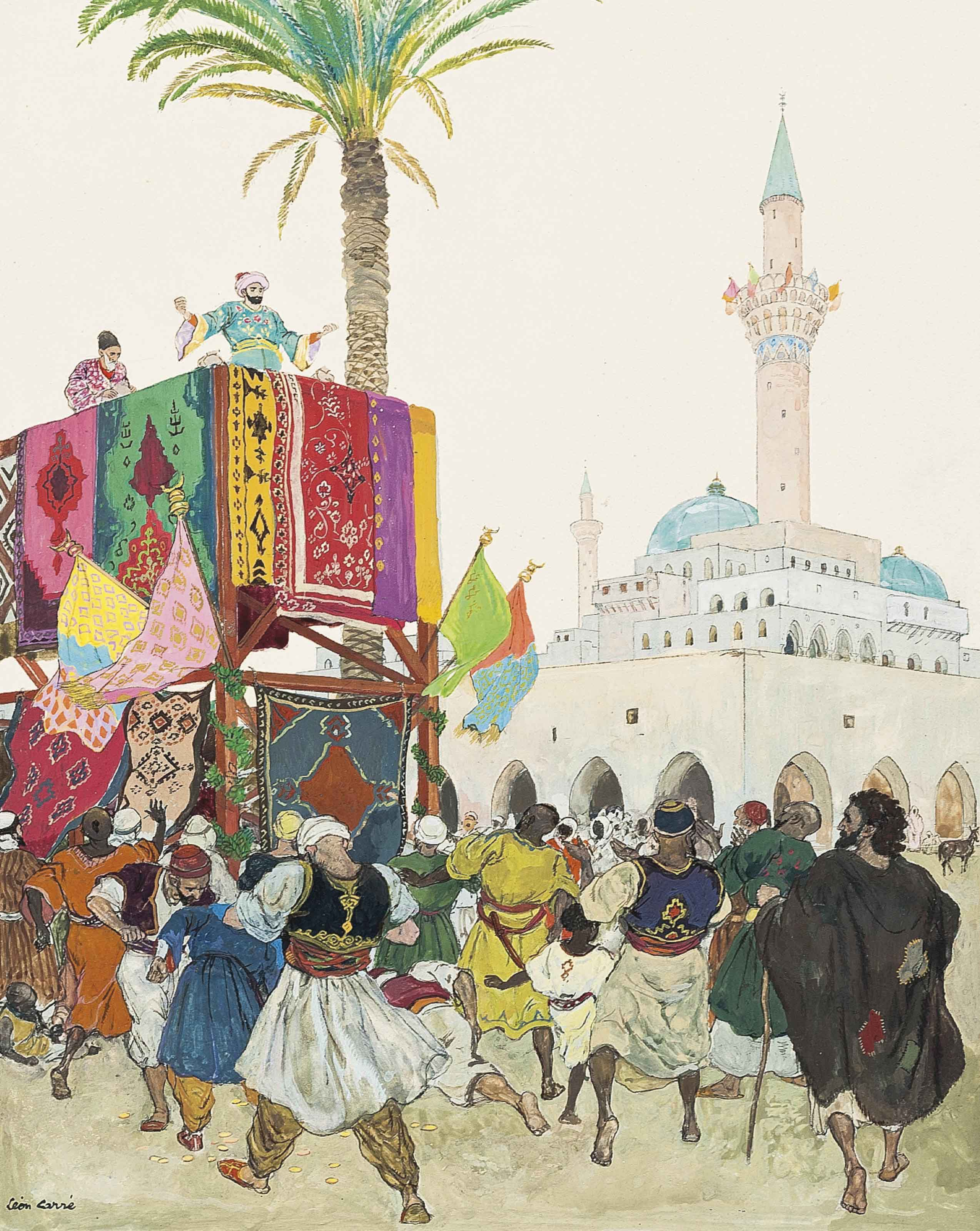 Marouf brought his bags full of gold, from 'The Story of the Disordered Cake and the Calamitous Spouse'