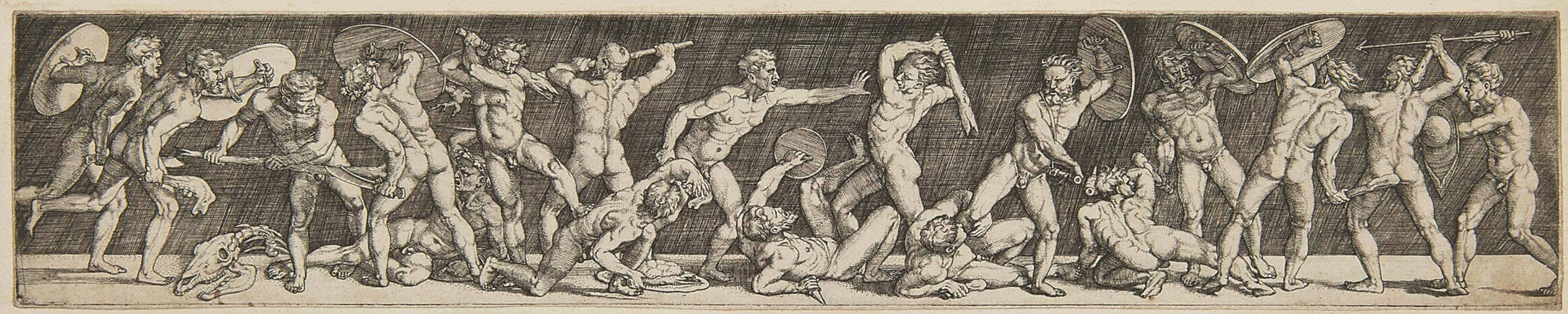 Battle of Eighteen Nude Men (Bartsch 16; Pauli 25)