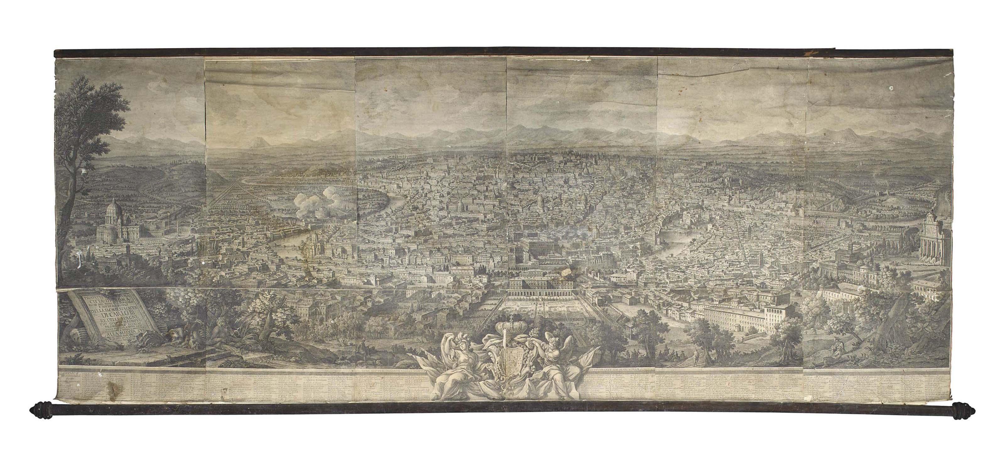 Prospetto del'Alma Cittá di Roma visto del Monte Gianicolo
