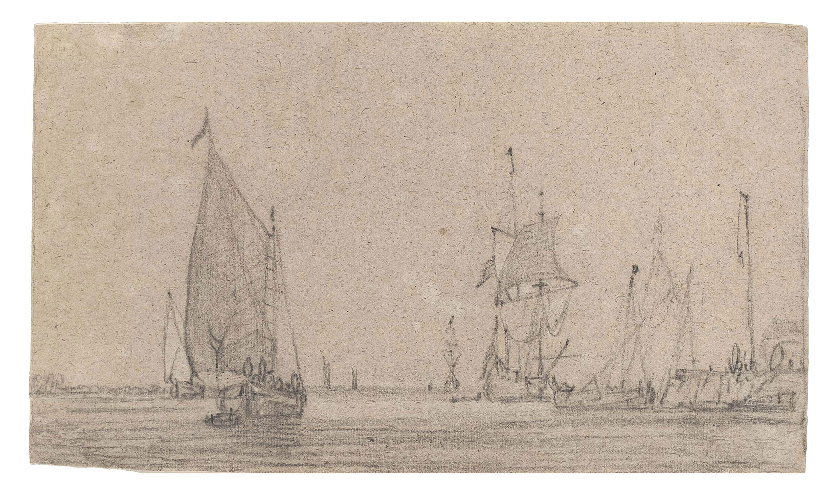 Fishing vessels and yachts in calm waters in a harbour