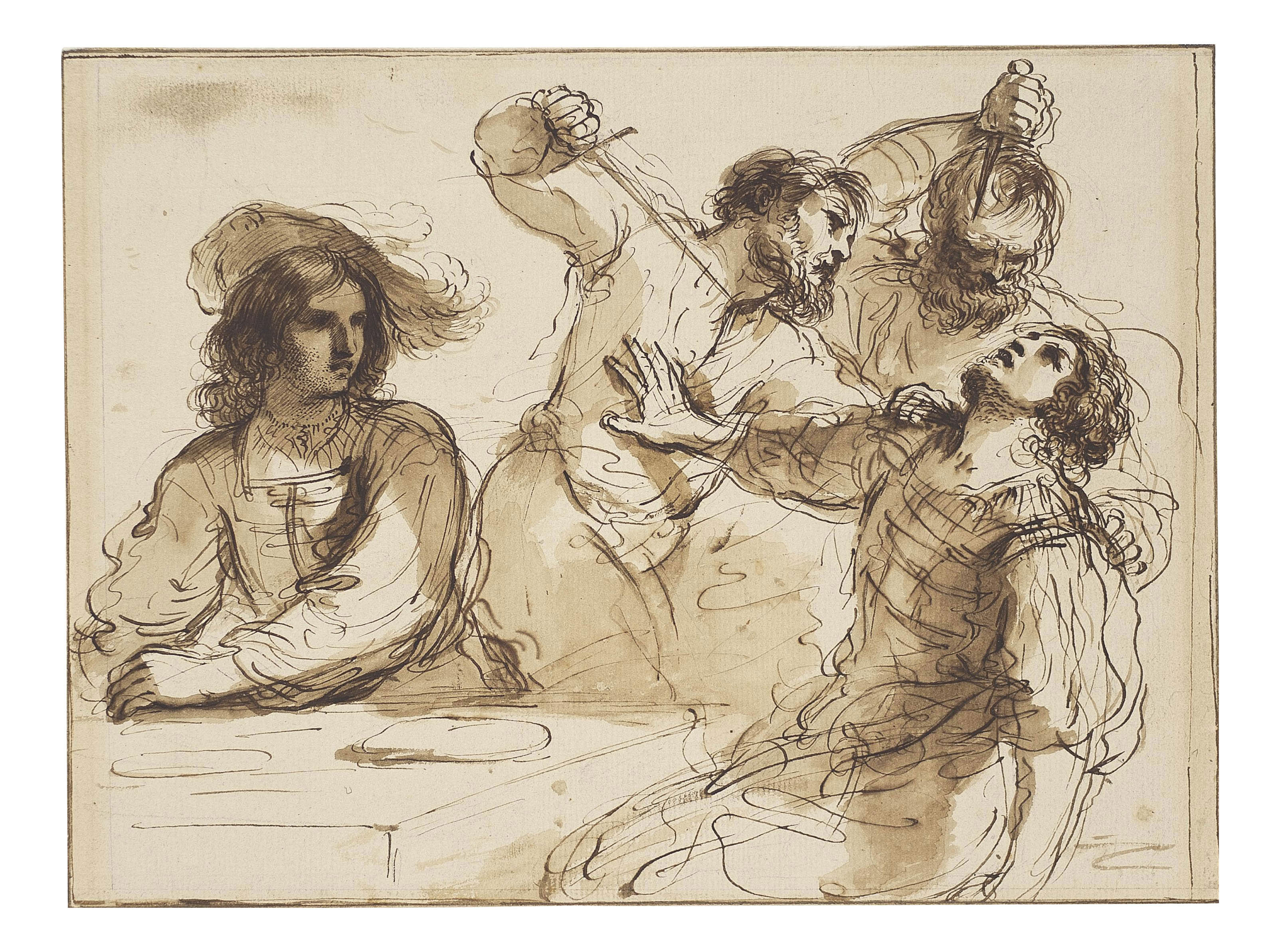 The Assassination of Amnon, after Guercino