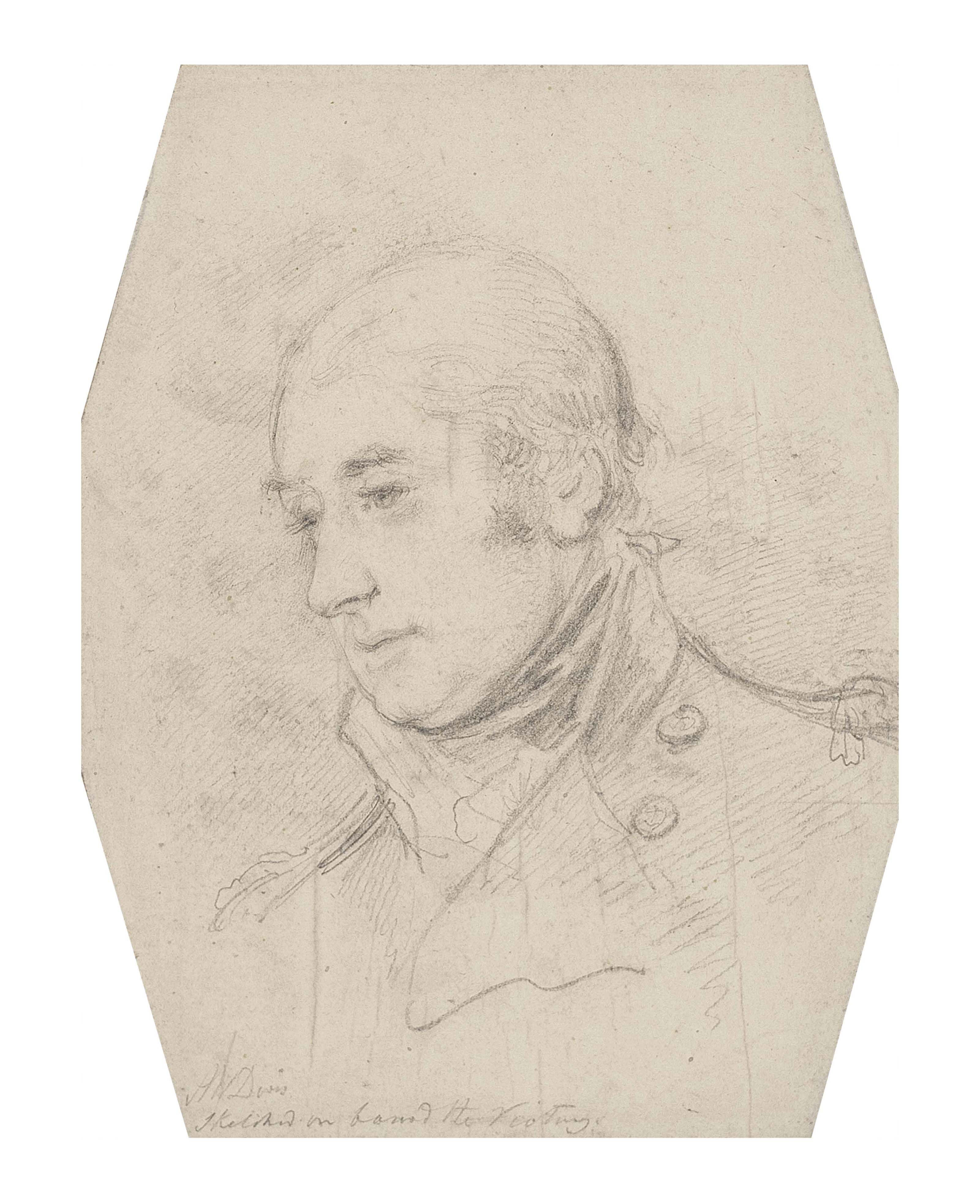 Portrait study of Captain Sir Thomas Hardy for 'The Death of Lord Nelson'