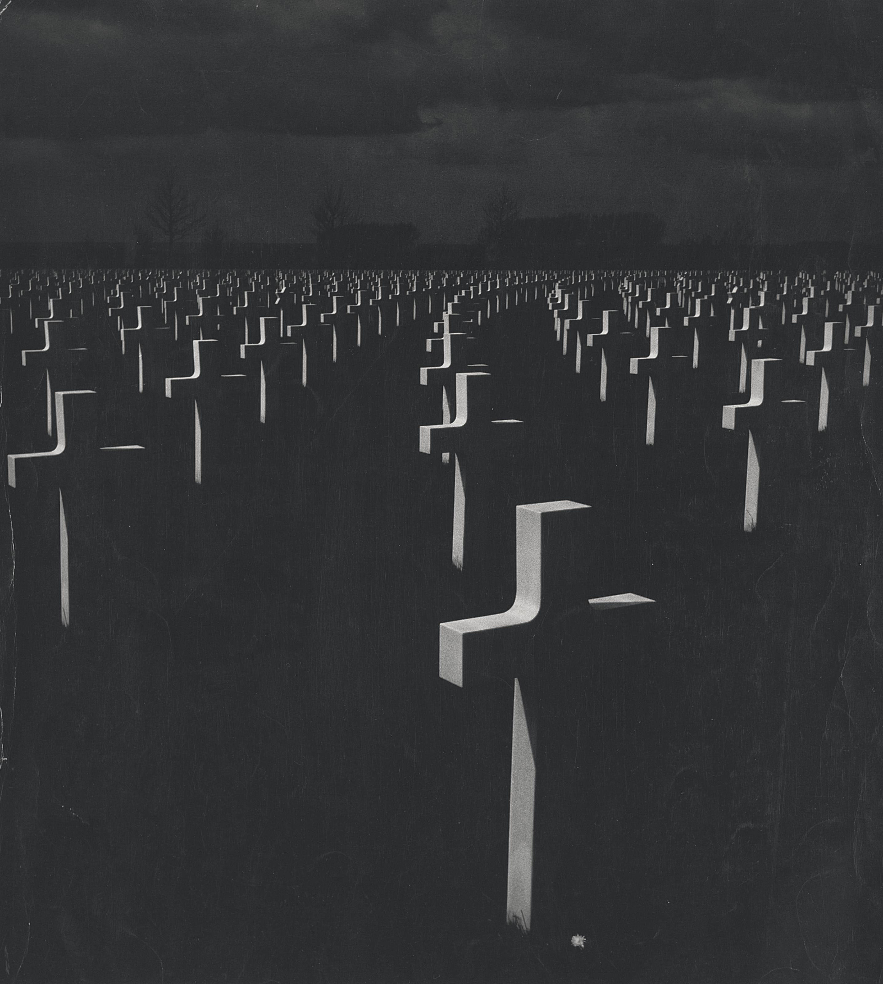 Cemetery at night. c. 1960