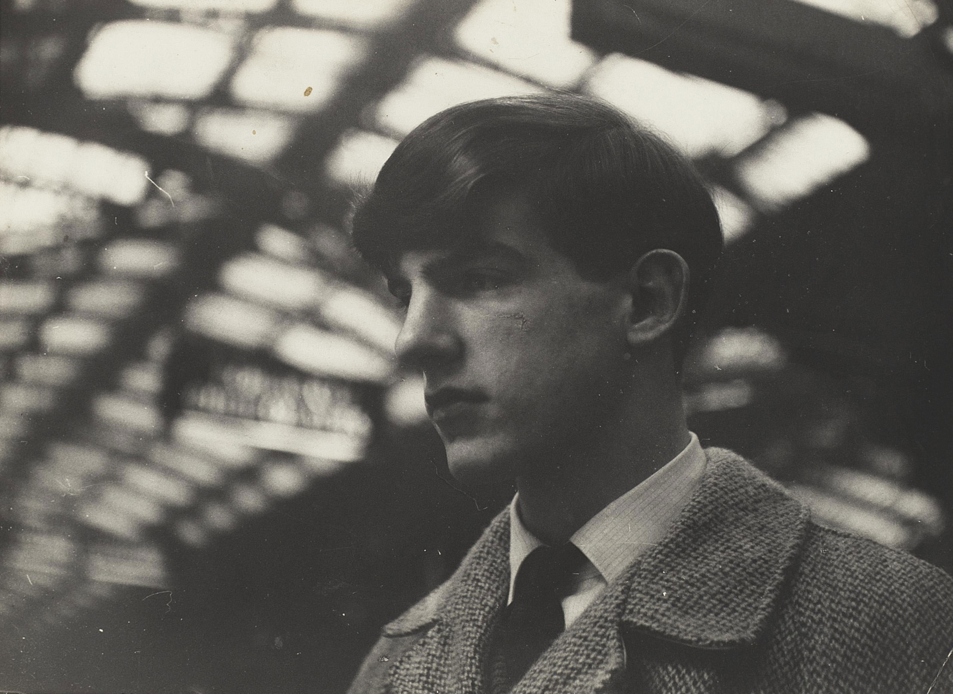 Portrait of Christopher Barker , from the feature 'Bored Teenagers' for About Town magazine, Paddington Station, London, 1962