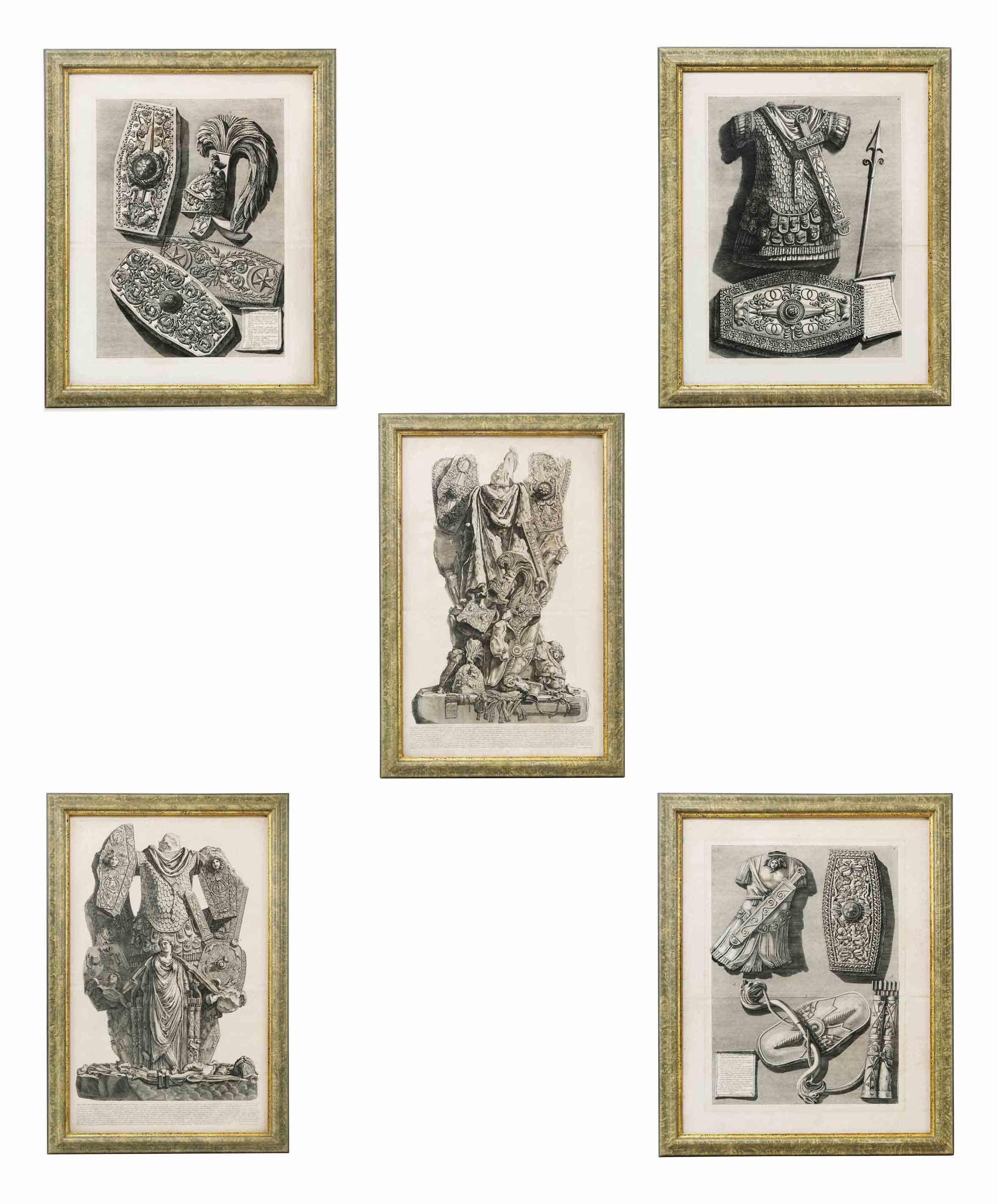 Five studies of the Trophy of Octavian Augustus