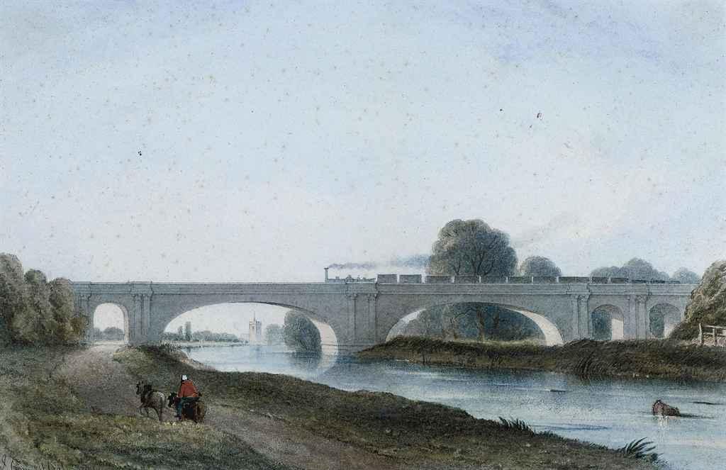 A train passing over Maidenhead Bridge