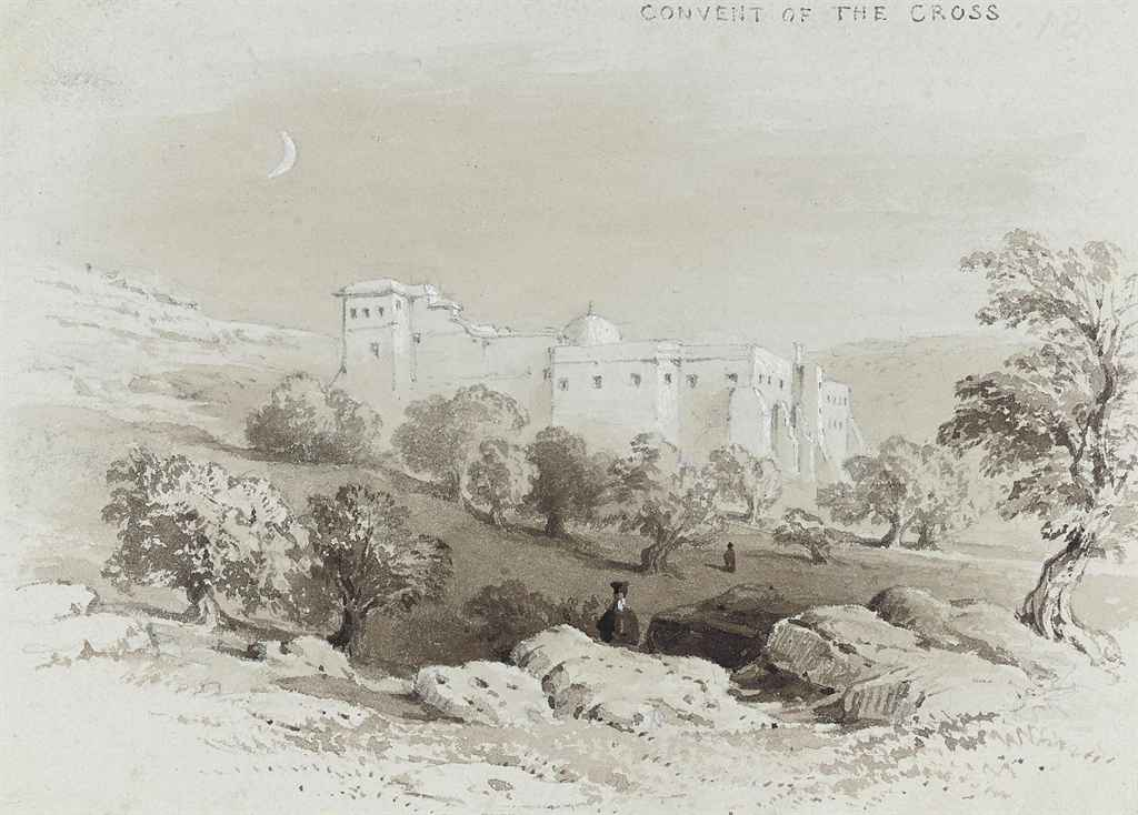 The Old Gate and Church of the Holy Sepulchre, Jerusalem; and The Convent of the Cross, Jerusalem (illustrated)