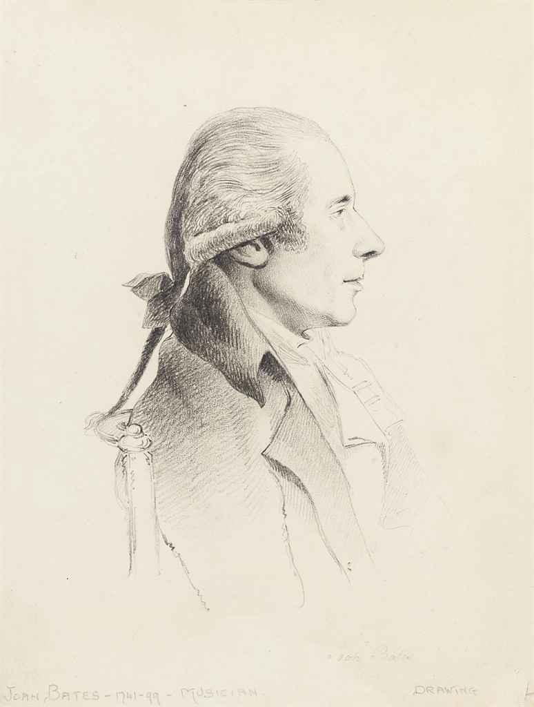 Portrait of the musician, Joah Bates (Halifax 1741-1799 London)