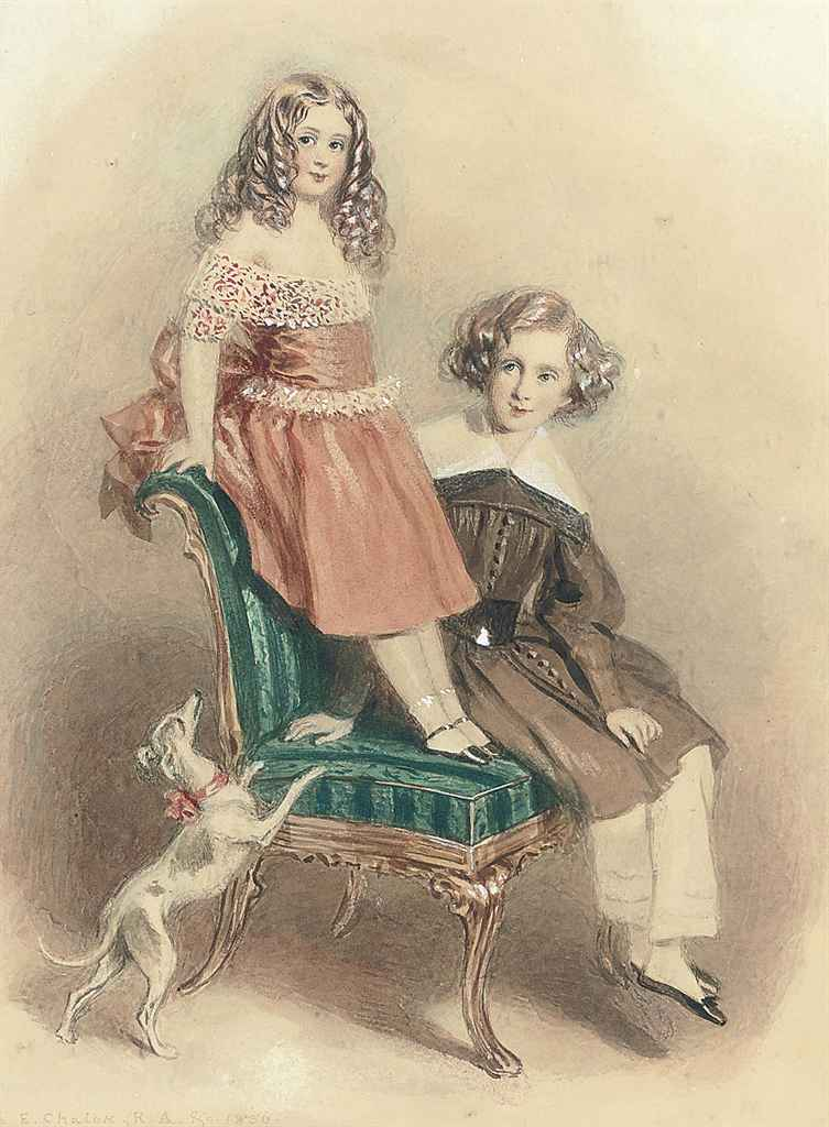 Portrait of Lord and Lady Evelin Stanhope, the children of the Earl of Chesterfield