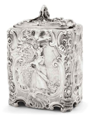 A VICTORIAN SILVER CHINOISERIE