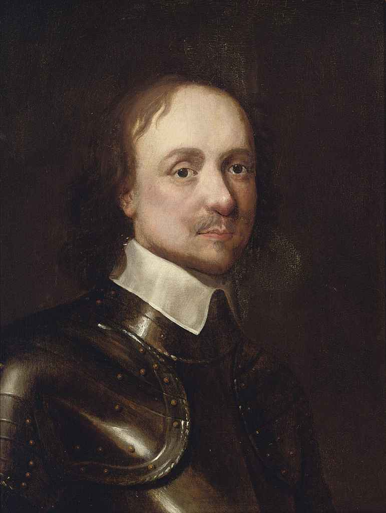 Portrait of Oliver Cromwell (1599-1658), bust-length, in breast-plate and a white collar