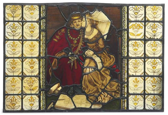 A PRE-RAPHAELITE STAINED AND L
