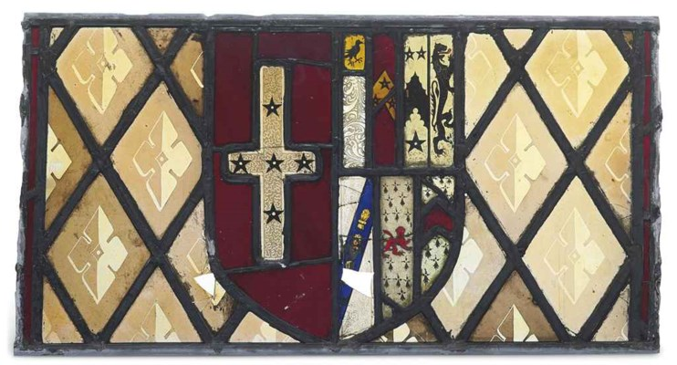 AN ENGLISH STAINED AND LEADED