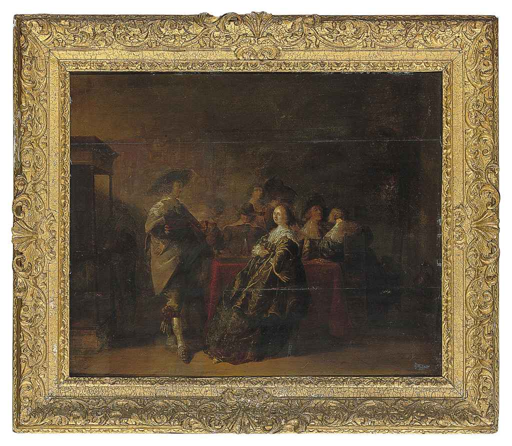 Elegant company at a table in an interior