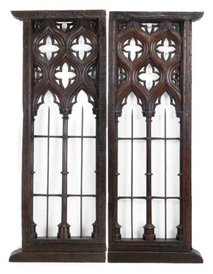 A LARGE PAIR OF SPANISH GOTHIC