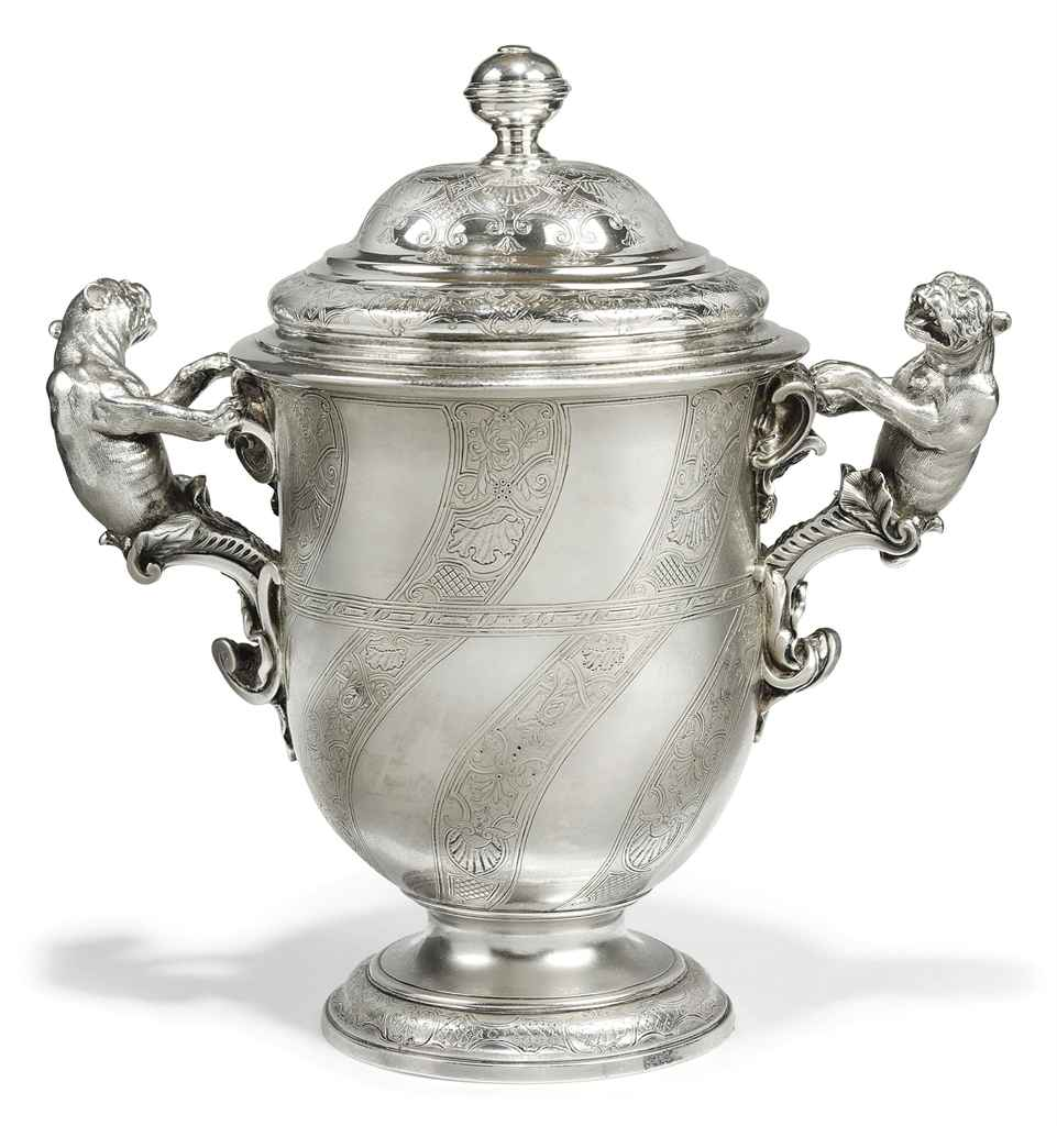 A GEORGE II CUP AND COVER