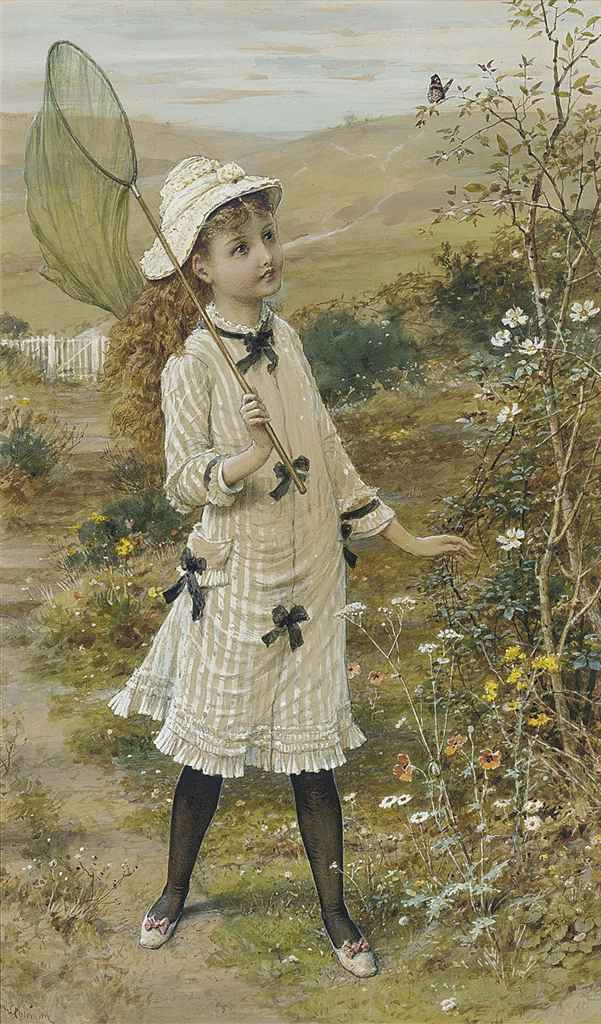 The young butterfly catcher