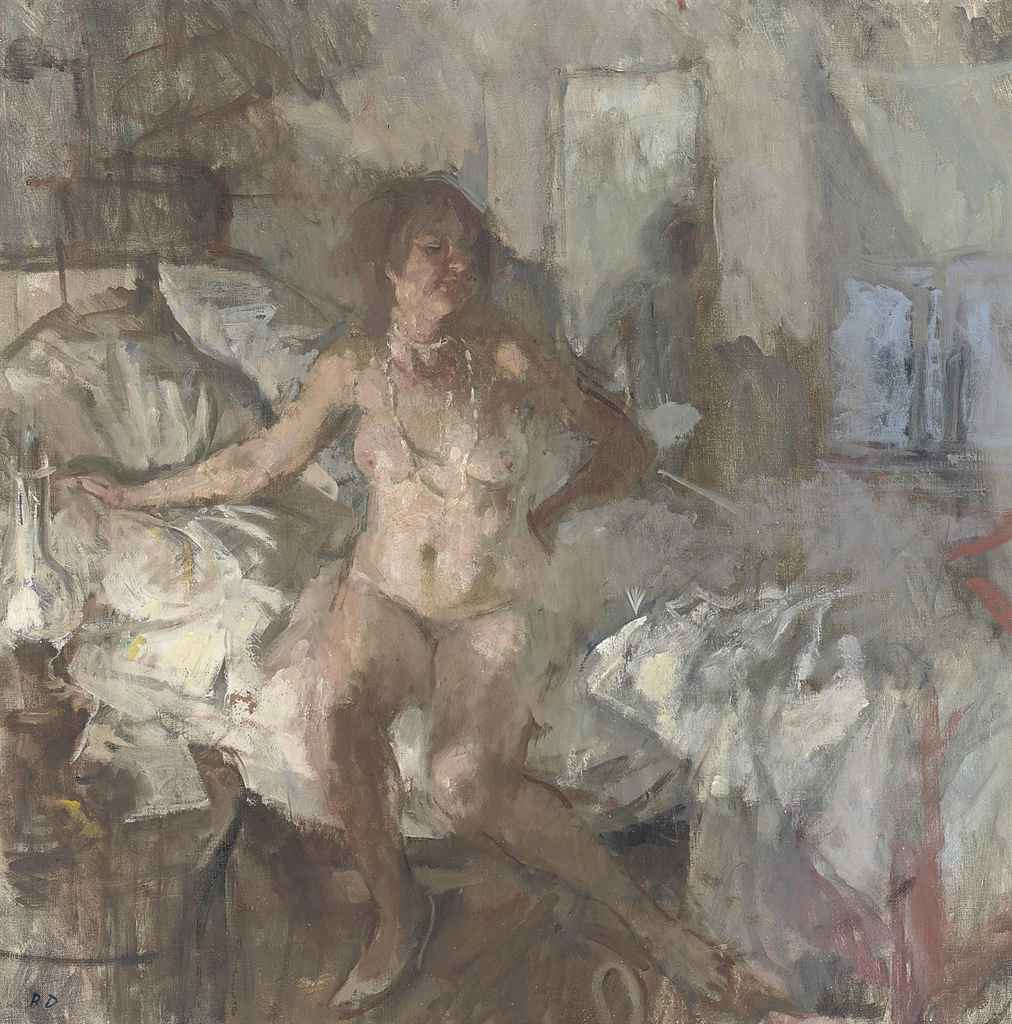 Nude with Oil Lamp (White Necklace)