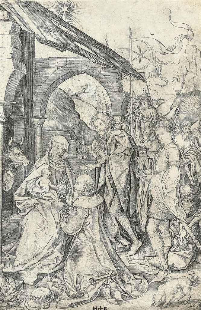 The Adoration of the Magi (Bartsch, Lehrs, Hollstein 6)