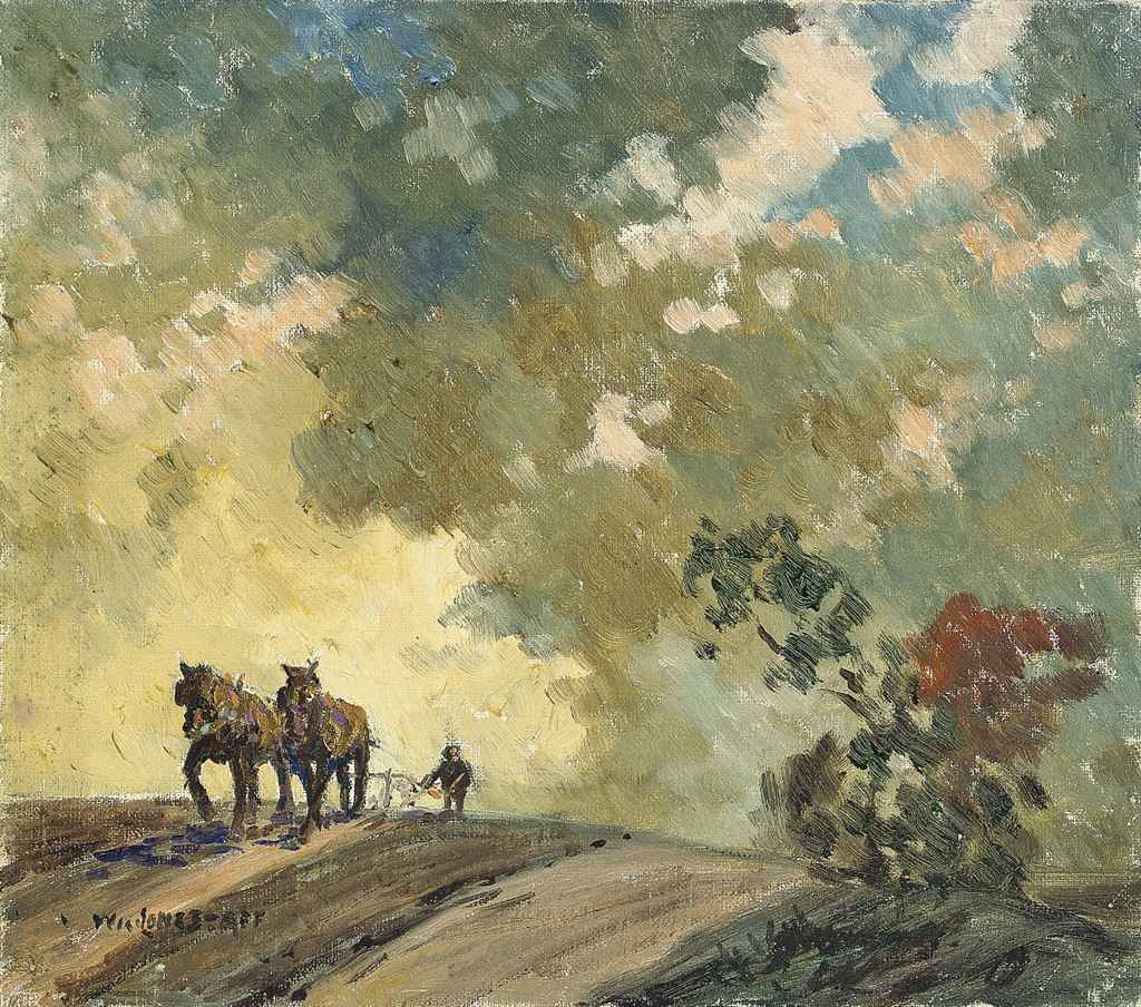 Ploughing; and Summer lake