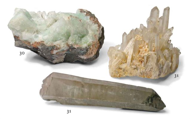 A specimen of green apophyllit