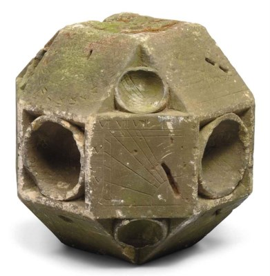 A stone polyhedral dial