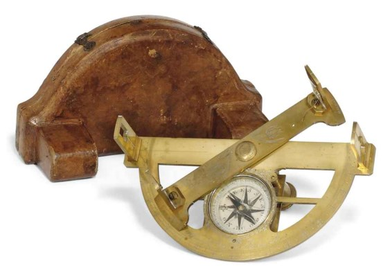 A French brass graphometer