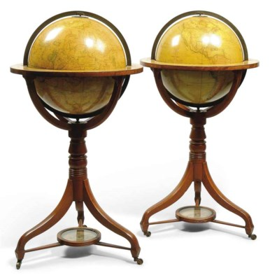 A pair 15-inch English library