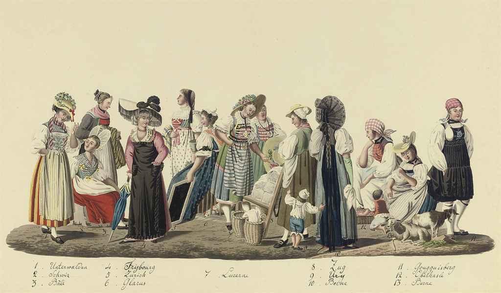 Costumes of the twenty six Cantons of Switzerland