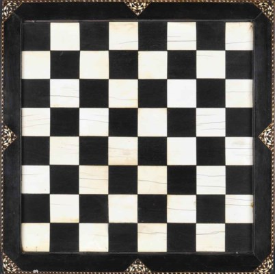 A NASRID IVORY AND EBONY CHESS