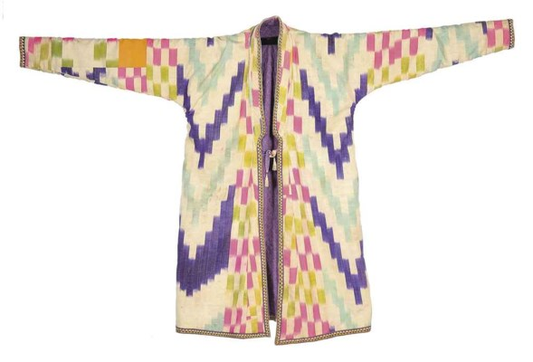 A QUILTED IKAT ROBE