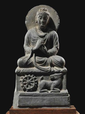 A SCHIST BUDDHA SHOWING THE GE