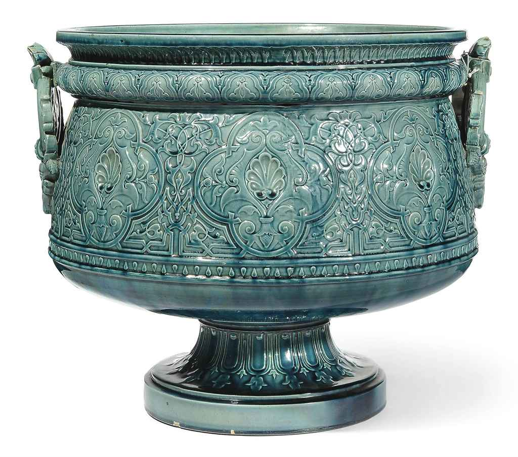 AN ALHAMBRA-STYLE JARDINIERE