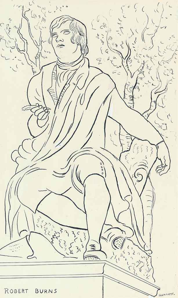Study of a statue of Robert Burns