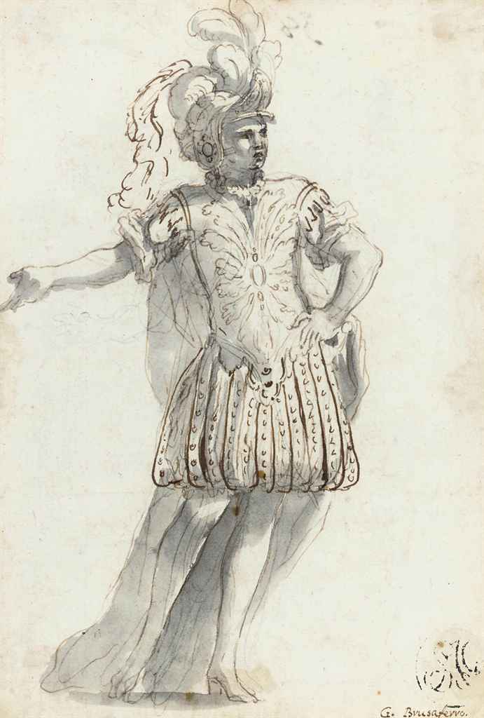 Study of a gentleman in masque costume