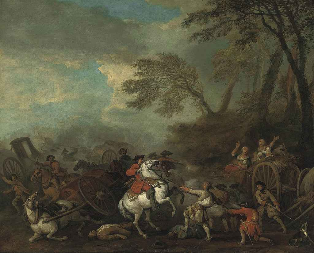 An ambush in a wooded landscape