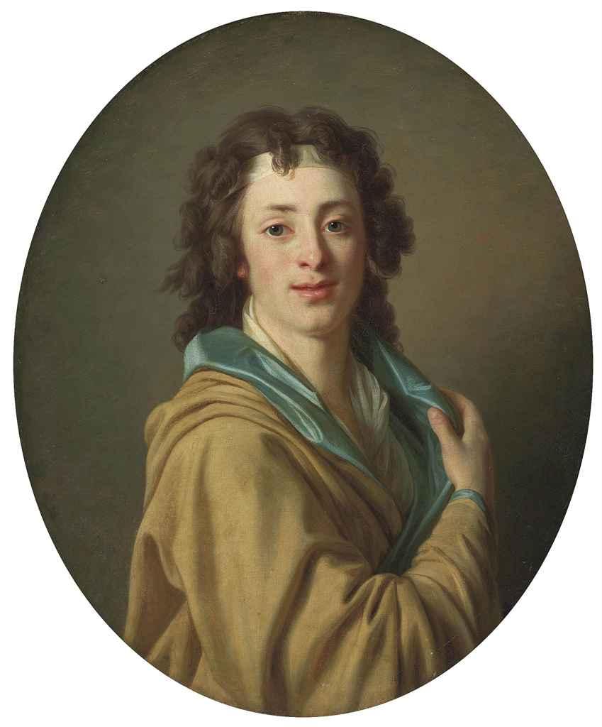 Portrait of a gentleman, half-length, in a yellow coat