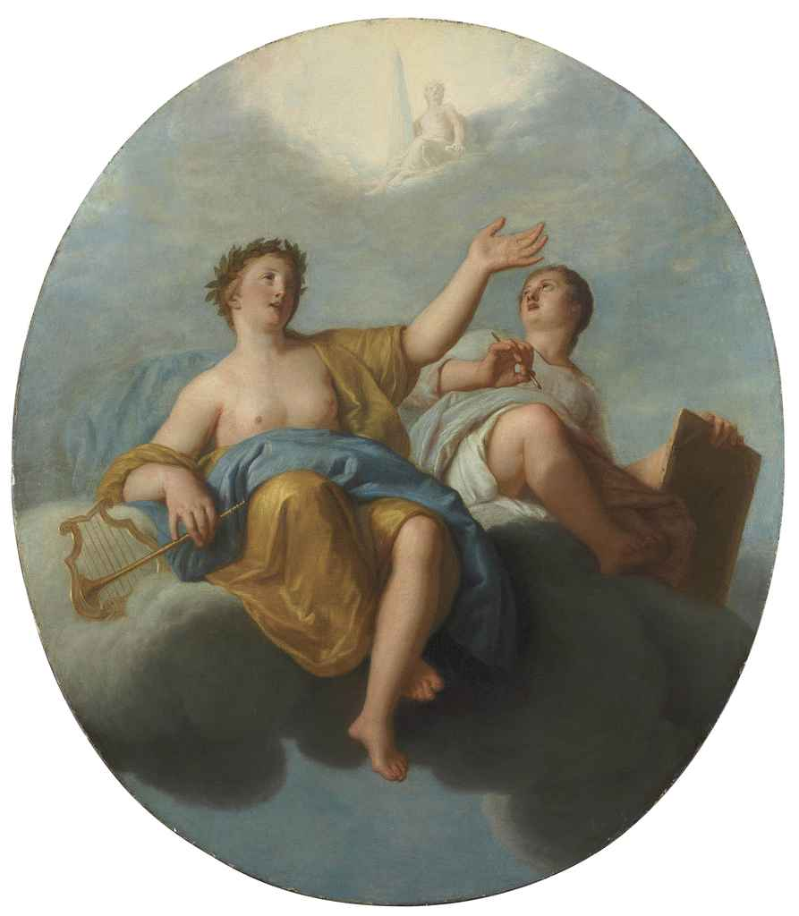 An allegory of Music and Painting