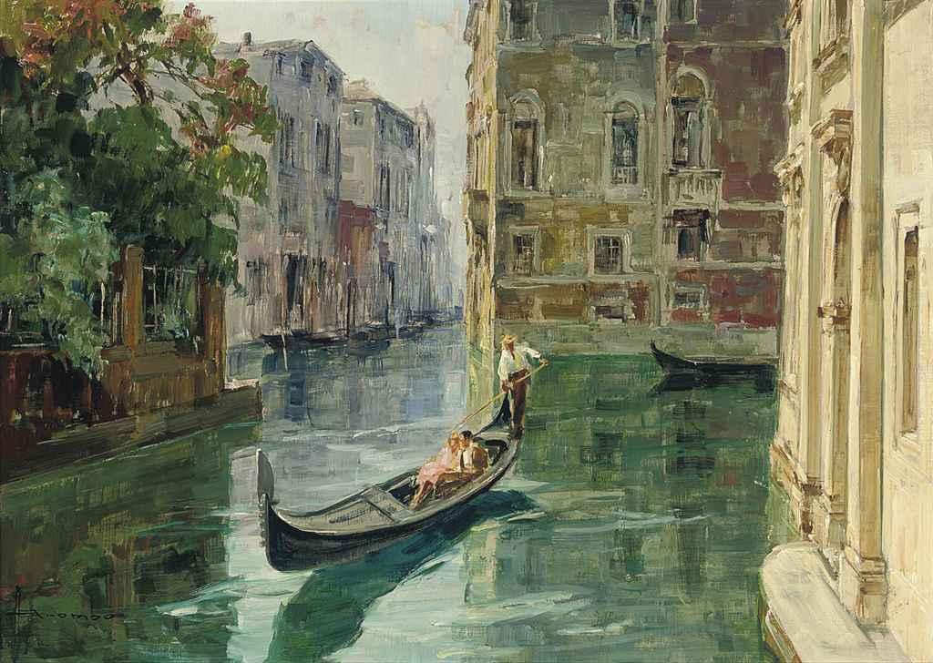 A romantic gondola ride