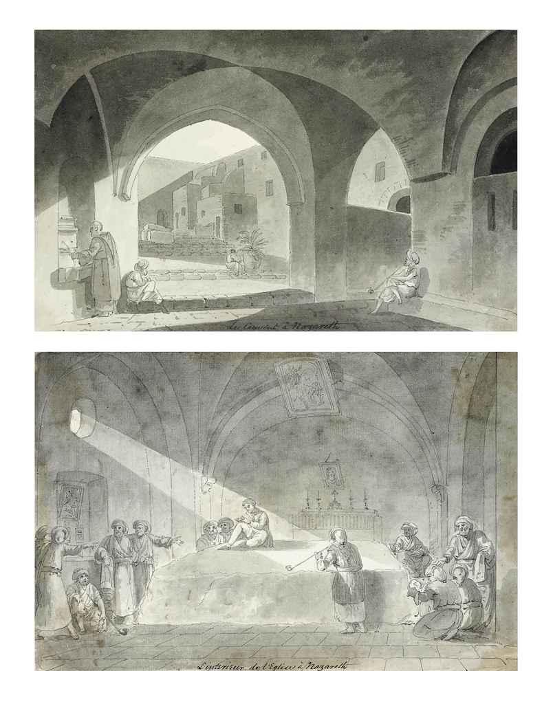 L'interieur de l'Eglise à Nazareth