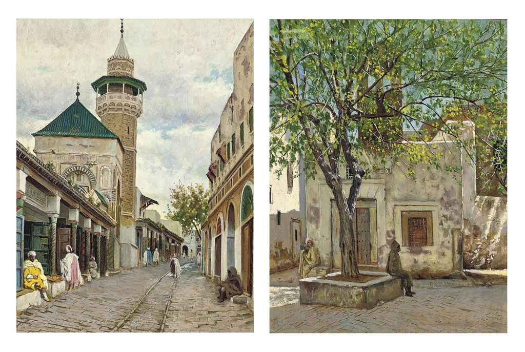 The street of the shoemakers, Tunis; and The square of the French hospital, Tunis