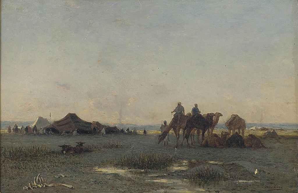 A Bedouin encampment