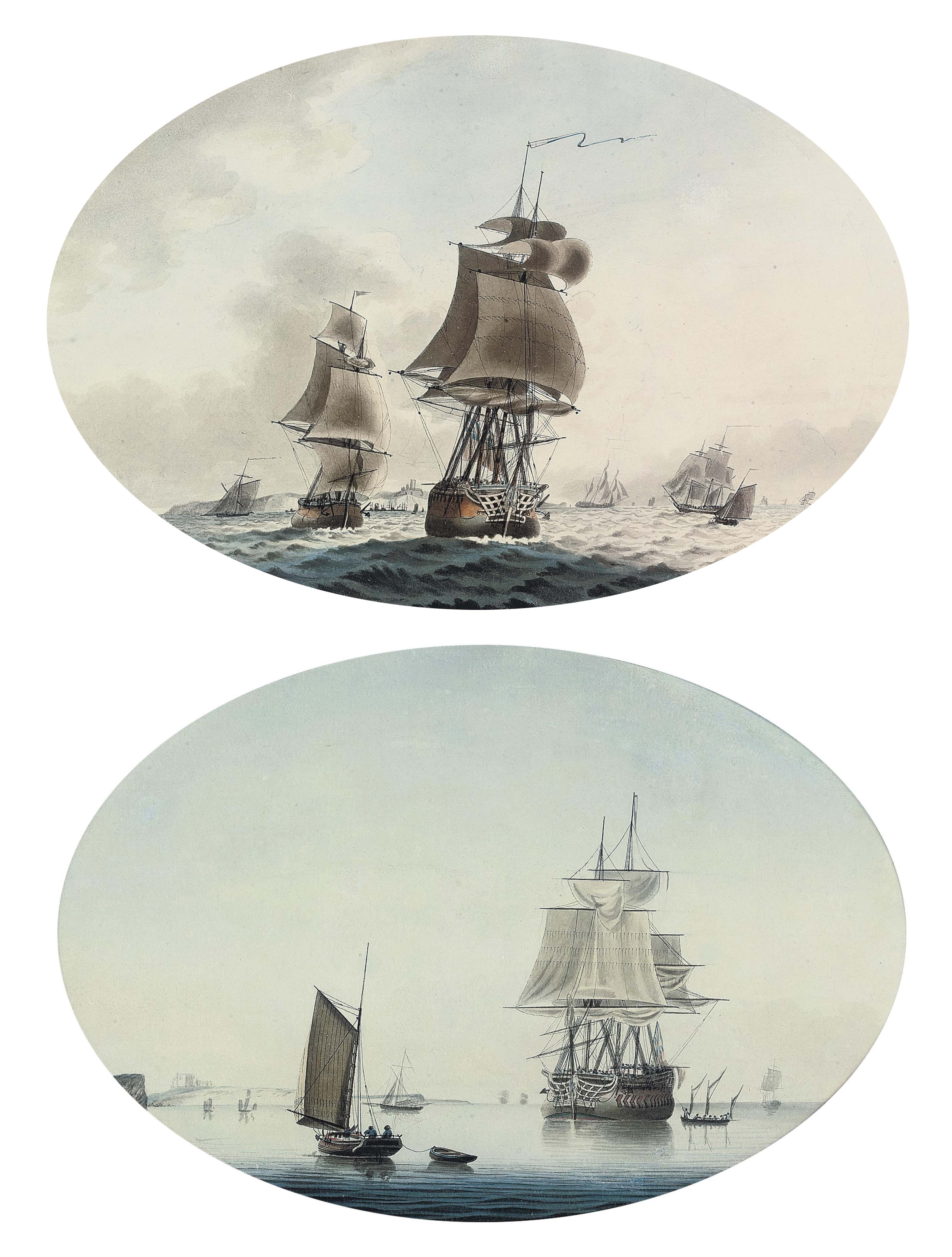 Shipping in the Channel off Dover; and A calm day in the Channel (both illustrated)