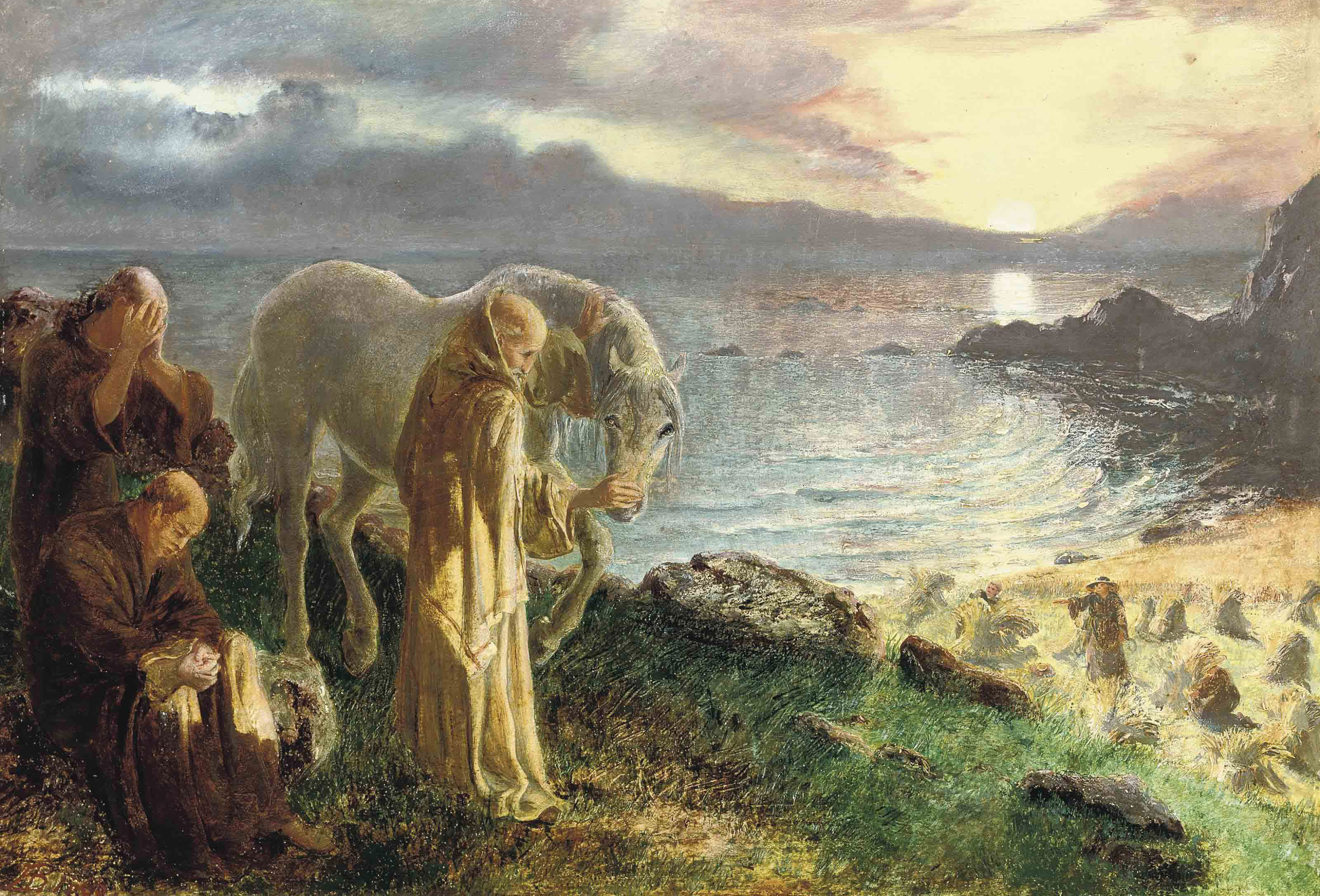 St Columba's Farewell to the White Horse